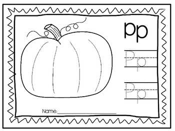 Alphabet Coloring Book and Handwriting practice