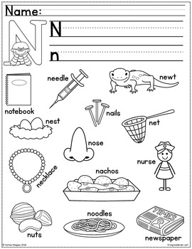 Alphabet Coloring Book with Handwriting and Sentence Writing Practice or Center