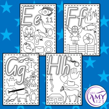 Alphabet Coloring/Colouring Posters- Many Pictures!