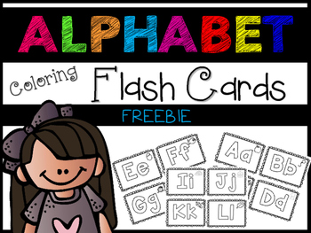 Alphabet Coloring Flash Cards ~ FREEBIE!