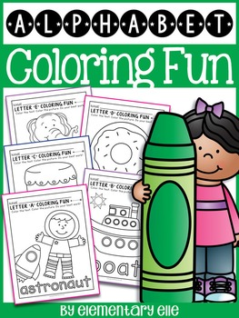 Alphabet Coloring Fun - Beginning Sounds