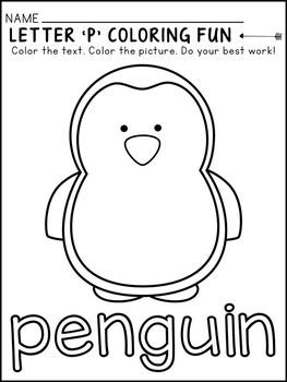 Alphabet Coloring Fun - Beginning Sounds