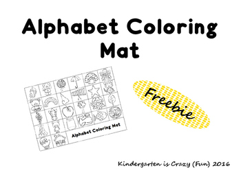 Alphabet Coloring Mat