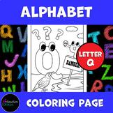 Alphabet Coloring Page | Letter Q | Phonics | Letter Sounds (Pre-K - 3rd)
