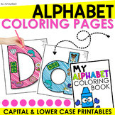 Alphabet Coloring Pages - Capital and Lower Case