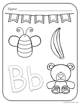 Alphabet Coloring Pages - A to Z Pages with Large Letters and Coloring Pictures