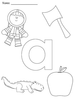 Alphabet/Letter Coloring Pages