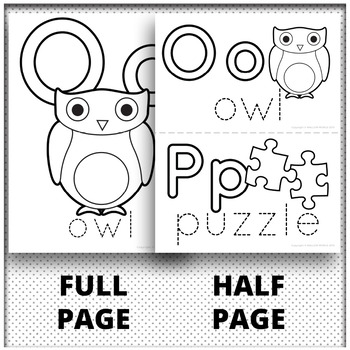 Alphabet Coloring Pages and Alphabet Book