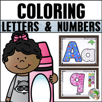 Letters and Numbers Coloring Pages