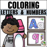 Alphabet  and Numbers Coloring Pages