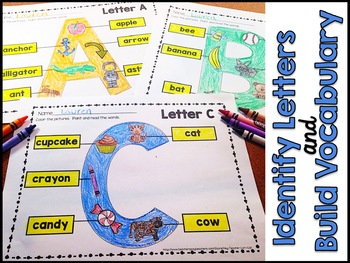 Alphabet Recognition Coloring Pages