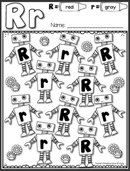 Alphabet Coloring  Pages --- ABC Color By Letter Pages