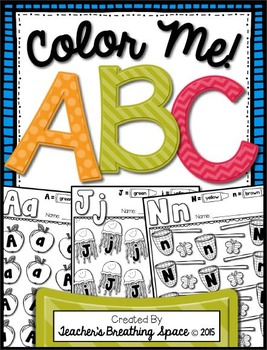 Alphabet Coloring  Pages --- ABC Color By Letter Pages