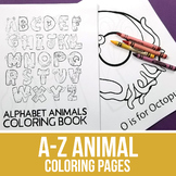 Alphabet Coloring Pages - Animal Alphabet Coloring Pages