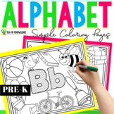 Alphabet Coloring Pages - Beginning Sounds Letter Patterns