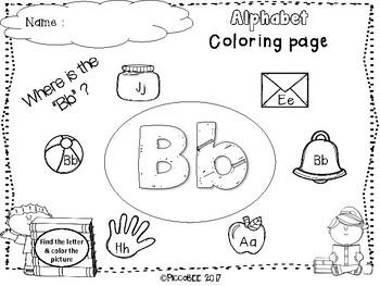 Alphabet Coloring Pages-FREEBIE
