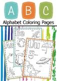 Alphabet Coloring Pages For Kindergarten & Pre - KG