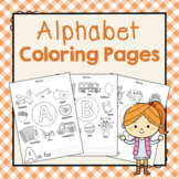 Alphabet Coloring Pages: Preschool Letters of the Week