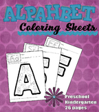 Alphabet Coloring Pages for Phonics Reinforcement (Prescho