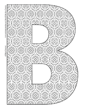 Alphabet Coloring Pages for the Letter B ~ 7 Beginning Sound Pictures for B