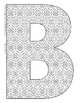 Alphabet Coloring Pages for the Letter B ~ 7 Beginning Sou