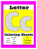 Alphabet Coloring Pages for the Letter C ~ 7 Beginning Sound Pictures for C