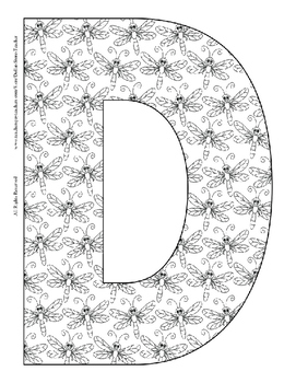 Alphabet Coloring Pages for the Letter D ~ 7 Beginning Sound Pictures for D