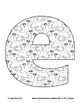 Alphabet Coloring Pages for the Letter E ~ 7 Beginning Sound Pictures for E