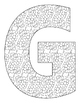 Alphabet Coloring Pages for the Letter G ~ 7 Beginning Sound Pictures for G