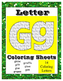 Alphabet Coloring Pages for the Letter G ~ 7 Beginning Sou