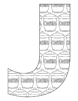 Alphabet Coloring Pages for the Letter J ~ 7 Beginning Sound Pictures for J