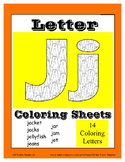 Alphabet Coloring Pages for the Letter J ~ 7 Beginning Sou