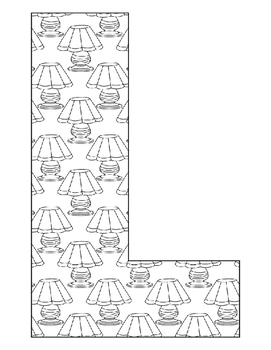 Alphabet Coloring Pages for the Letter L ~ 7 Beginning Sound Pictures for L