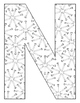 Alphabet Coloring Pages for the Letter N ~ 7 Beginning Sou