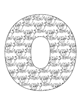 Alphabet Coloring Pages for the Letter O ~ 7 Beginning Sound Pictures for O