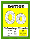 Alphabet Coloring Pages for the Letter O ~ 7 Beginning Sou