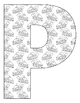 Alphabet Coloring Pages for the Letter P ~ 7 Beginning Sound Pictures for P