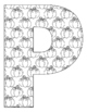 Alphabet Coloring Pages for the Letter P ~ 7 Beginning Sou