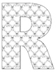 Alphabet Coloring Pages for the Letter R ~ 7 Beginning Sound Pictures for R