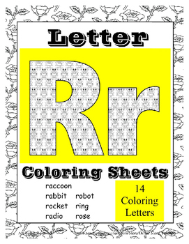 Alphabet Coloring Pages for the Letter R ~ 7 Beginning Sou