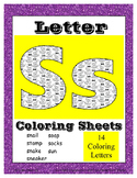 Alphabet Coloring Pages for the Letter S ~ 7 Beginning Sou