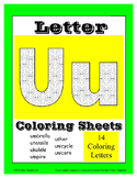 Alphabet Coloring Pages for the Letter U ~ 7 Beginning Sou