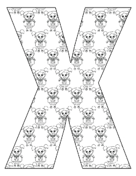 Alphabet Coloring Pages for the Letter X ~  Beginning Sound Pictures Plus for X