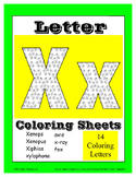 Alphabet Coloring Pages for the Letter X ~  Beginning Soun