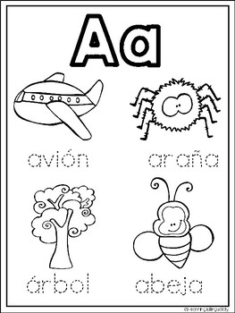Alphabet Coloring Pages in Spanish by Learning Bilingually ...