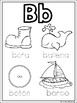 Alphabet Coloring Pages in Spanish