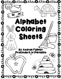 Alphabet Coloring Sheet Packet