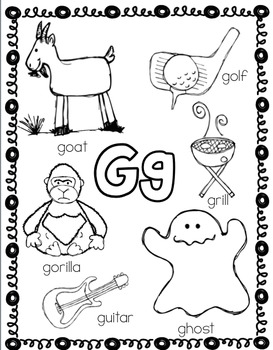 Alphabet Coloring Sheet Packet by PreKinders in Paradise   TpT