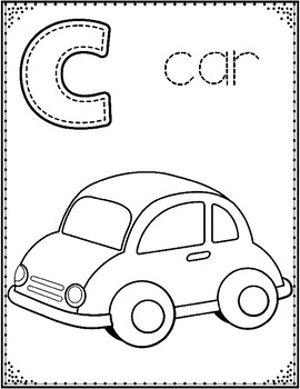 Alphabet Coloring Sheets:  PreKindergarten and Kindergarten ABC Posters