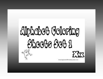 Alphabet Coloring Sheets Set 1